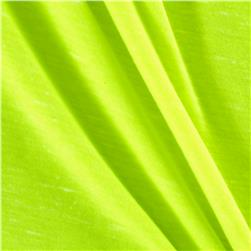 Cotton/Polyester Jersey Knit Neon Yellow