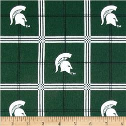 Michigan State University Flannel Plaid Fabric