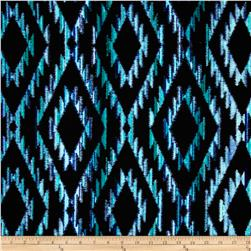 Michael Miller Tribal Blanket Teal Fabric