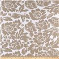 Fleece Print Florals Tan