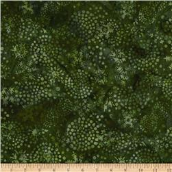 Island Batik Holiday Happenings Snowballs Green