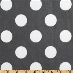 Chiffon Tricot Knit Dots Black/White
