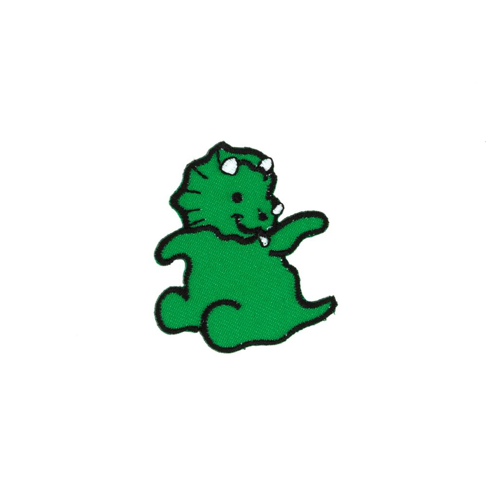 Dino Smiling Applique Green