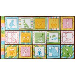 Kaufman Celebrate Seuss 2 Panel Rainbow Pink