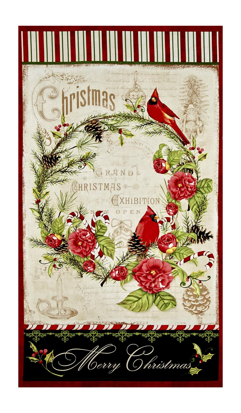 "Wilmington Christmas in the Wildwood Large 24.5"" Panel Multi"