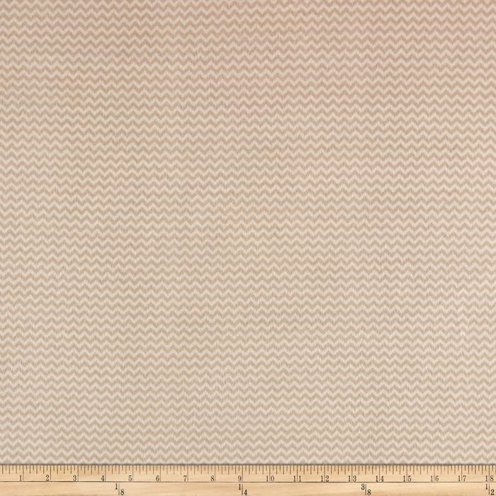 Wise One Flannel Chevron Tan Fabric By The Yard