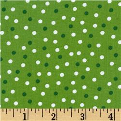 Robert Kaufman Remix Scattered Small Dots Green