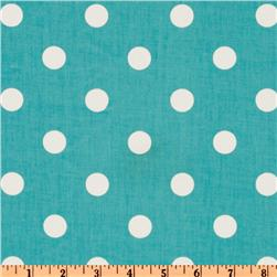 Premier Prints Polka Dot Twill Girly Blue/White Fabric