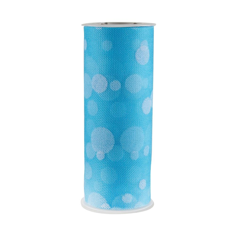 Tulle Spool Polka Dots Turquoise