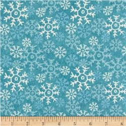Wise One Flannel Snowflake Blue