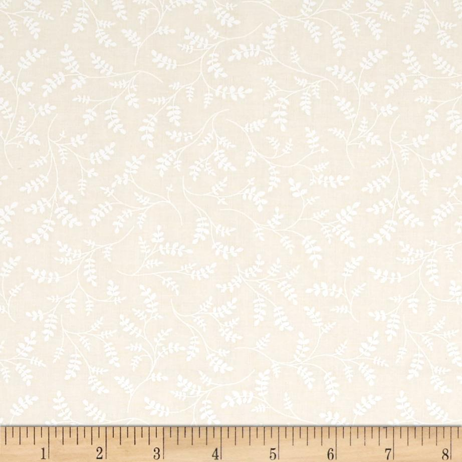 "Whisper Prints 108"" Wide Vines Ivory"