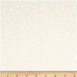 Whisper Prints 108'' Wide Vines Ivory Fabric