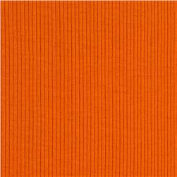 Cotton Rib Knit Orange