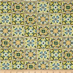 Bohemian Roosters Tiles Blue/Green