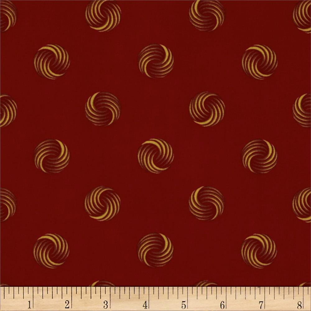 Retro Geo Circles Burgundy