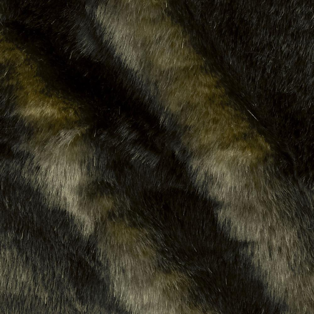Luxury Faux Fur Speckle Black