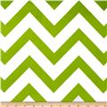 Mi Amor Duchess Satin Chevron Avocado/White
