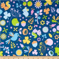 Riley Blake Wildflower Meadow Flannel Main Blue Fabric