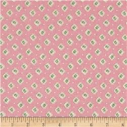 Lazy Days Bud Circle Grid Pink