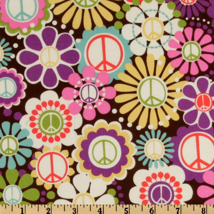 Michael Miller Peace Group Flower Power Multi