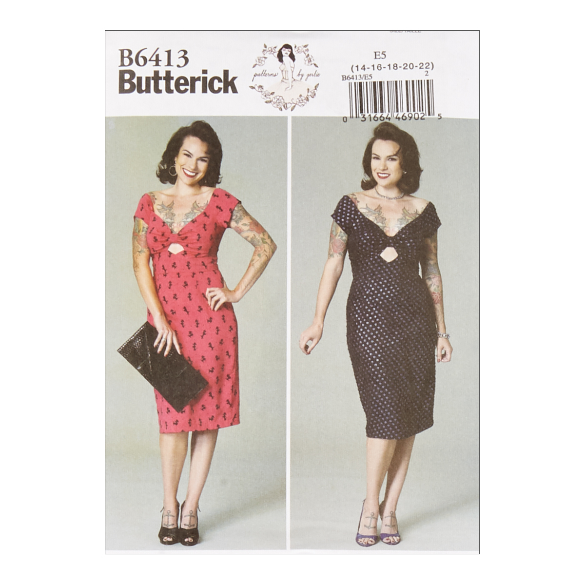 1960s – 70s Sewing Patterns- Dresses, Tops, Pants, Mens Butterick B6413 Patterns by Gertie Misses Gathered-Front Keyhole Dress E5 Sizes 14-22 $11.97 AT vintagedancer.com