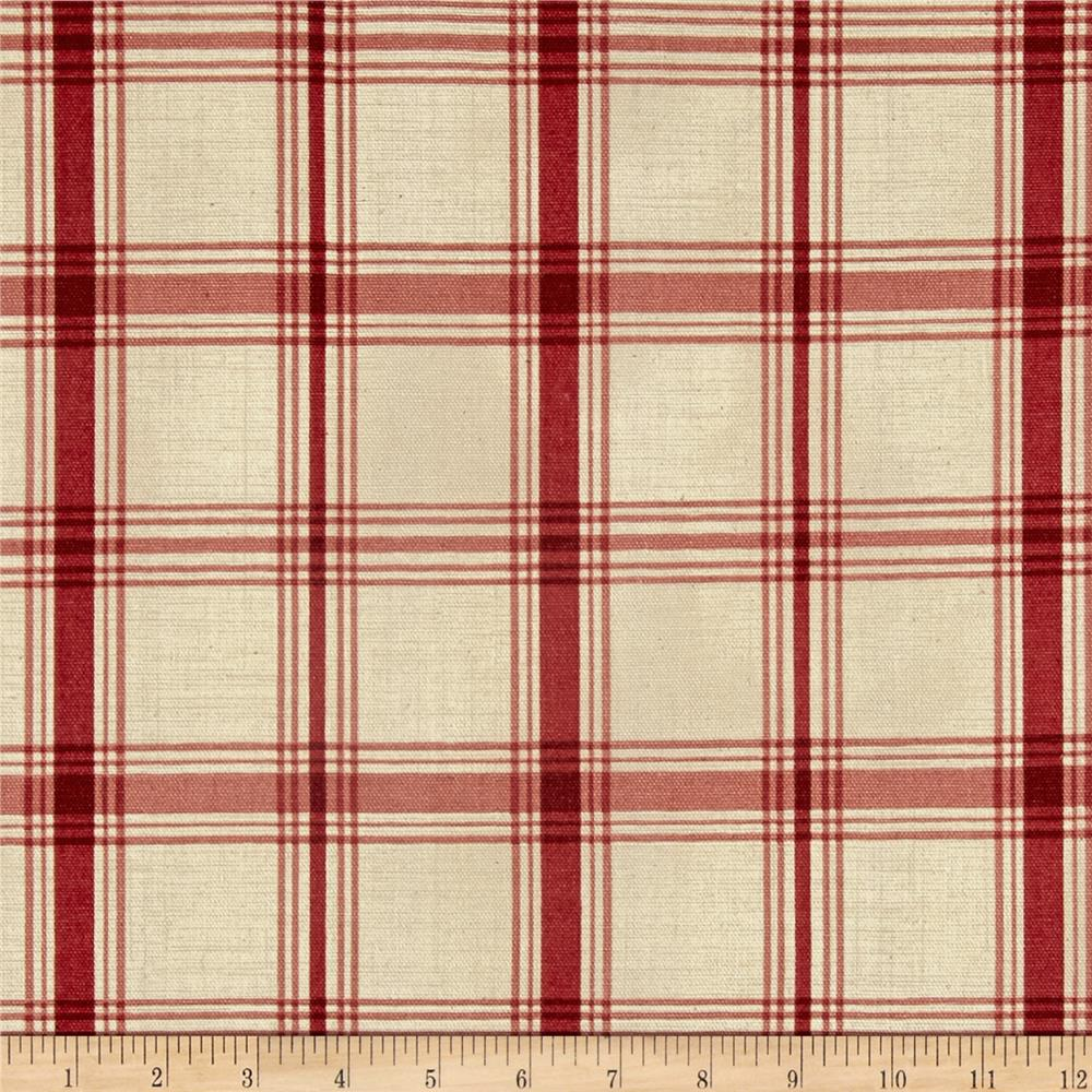 Waverly Pantry Plaid Crimson