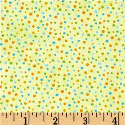 Essentials Petite Dots Green/Multi Fabric