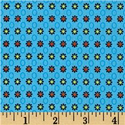 Cottonwood Small Flowers & Circles Blue