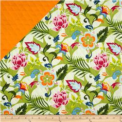 Tropical Floral Quilted Hot Pink/Green