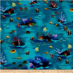 Dolphin Island Digital Under The Sea Scenic Turquoise