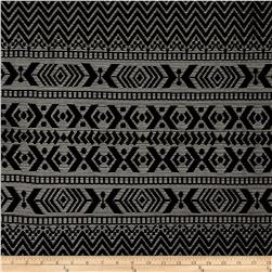 Stretch Crochet Lace Chevron Aztec Stripe Black