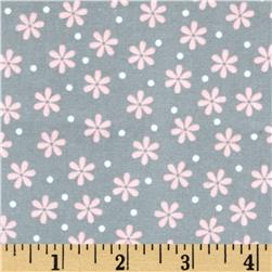 Robert Kaufman Cozy Cotton Flannel Daisy Grey