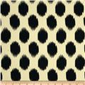 Peachskin Ikat Dot Banana/Black