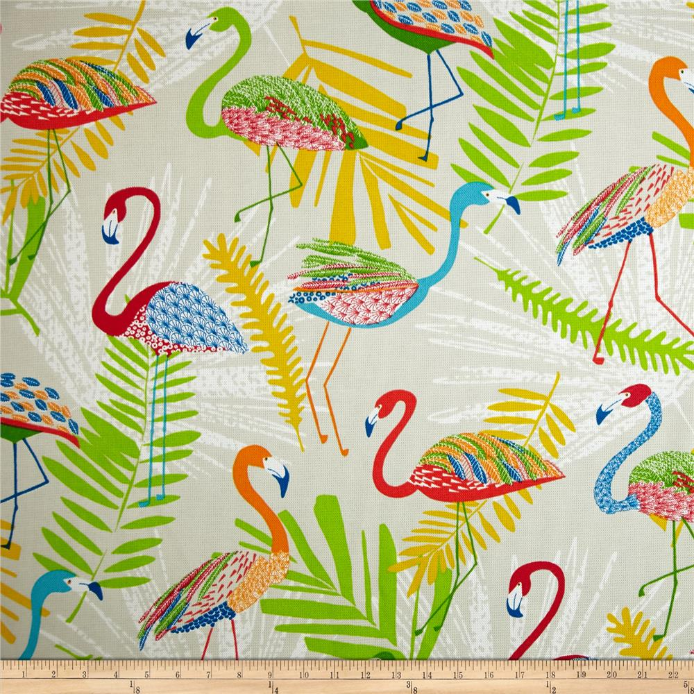 Discount outdoor fabric by the yard - Richloom Indoor Outdoor Flamingo Fruit Punch Discount Designer Fabric Fabric Com