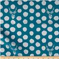 Kokka Sambar Canvas Metallic Dots Blue/Silver