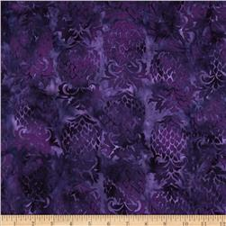 Island Batik Purple Rain Dark Purple Pineapple