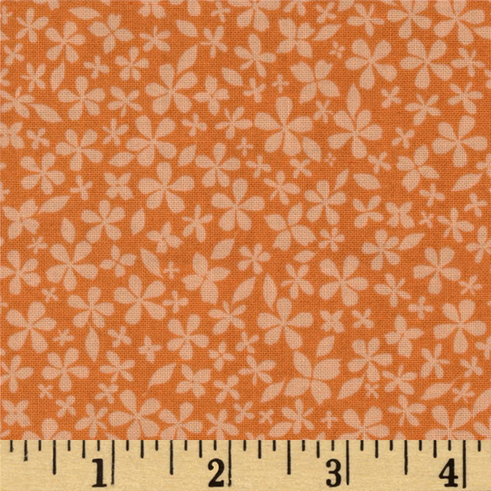 Hot House Flowers Floral Small Floral Tonal Orange