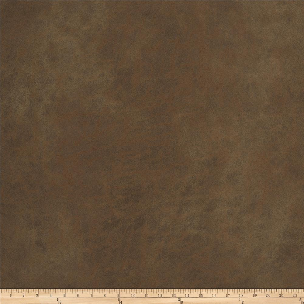 Fabricut Bridle Path Faux Leather Chestnut