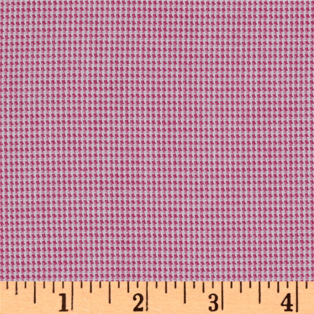 Yarn Dyed Rayon Blend Shirting Gingham Pink/White