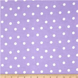 Flannel Polka Dots Purple Fabric