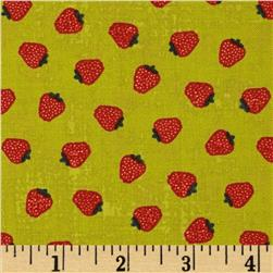 Moda Garden Project Strawberries Green Apple Fabric