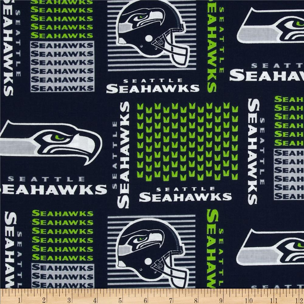 NFL Cotton Broadcloth Seattle Seahawks Blue