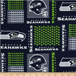 NFL Cotton Broadcloth Seattle Seahawks Blue Fabric