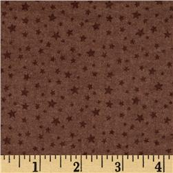Riley Blake Rodeo Rider Flannel Rodeo Stars Brown Fabric