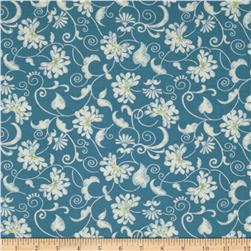 Reflections Floral Scroll Blue