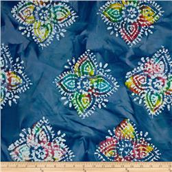 Indian Batiks Large Medallion Blue