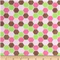 Minky Cuddle Born To Be Wild Hexies Pink