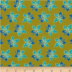 Medallion Muse Hawaiian Flowers Green/Turquoise