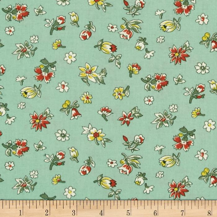 Fall Frolic Small Floral Seafoam