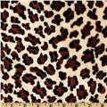 Minky Cuddle Baby Leopard Ivory/Brown